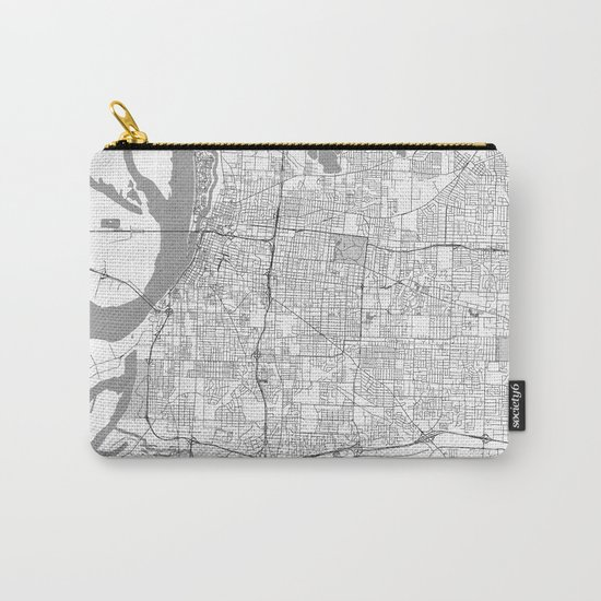 Memphis Map Line Carry-All Pouch