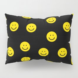 Smiley faces yellow happy simple rainbow colors pattern smile face kids nursery boys girls decor Pillow Sham