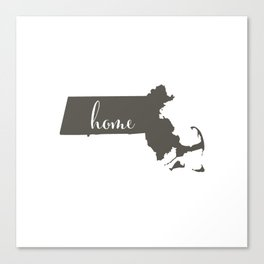 Massachusetts is Home Canvas Print