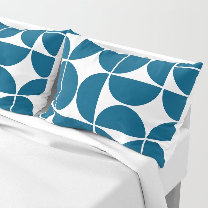 Mid Century Modern Geometric 04 Blue Pillow Sham