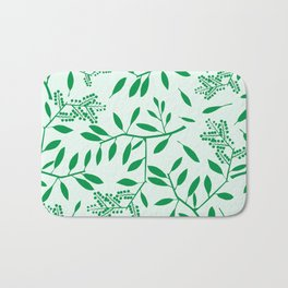 Abstract Leaves 2 Bath Mat