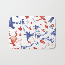 stamp illustration  Bath Mat