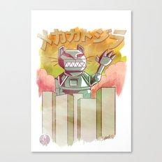 Mecha Catzilla Canvas Print