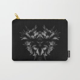 Peony Love with Conte Crayon Texture Carry-All Pouch