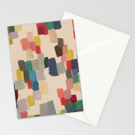 Colorful happy cheerful abstract painting Stationery Cards