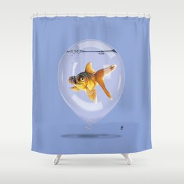 Inflated (Colour) Shower Curtain