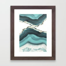 Sea Agate Framed Art Print