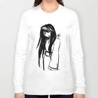 asian Long Sleeve T-shirts featuring Asian Smile by Saska Ithiur