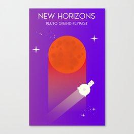 New Horizons Pluto Grand Flypast Canvas Print