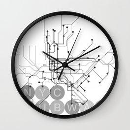 NYC Subway_white Wall Clock