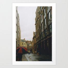 London - umbrella Art Print