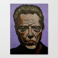christopher walken Canvas Prints featuring Walken by Jonny Moochie