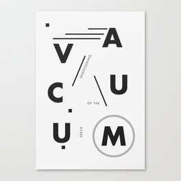 Vacuum: questioning of the space Canvas Print