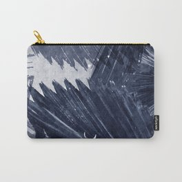 Indigo blue tropical palm leaf watercolor print Carry-All Pouch