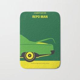 No478 My Repo Man minimal movie poster Bath Mat