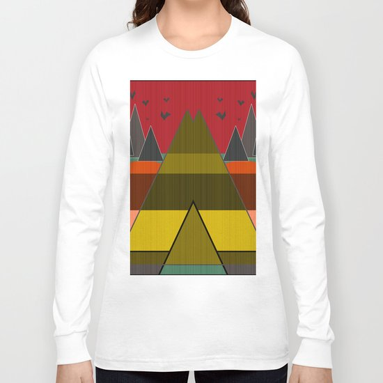 Abstract pattern . Mountains. Long Sleeve T-shirt