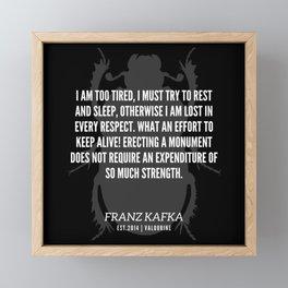 74  |  Franz Kafka Quotes | 190517 Framed Mini Art Print