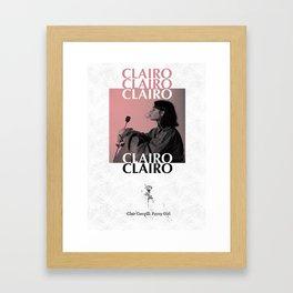 Clairo: Pretty Girl Framed Art Print