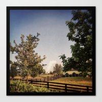 farm Canvas Prints featuring Farm by Yellow Barn Studio