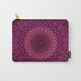 Mandala in pink and dark red tones Carry-All Pouch