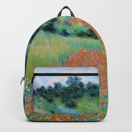 Claude Monet - Poppy Field in a Hollow near Giverny - Digital Remastered Edition Backpack