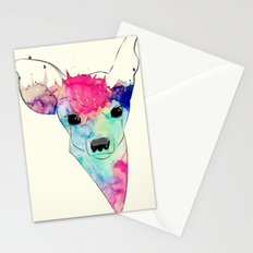 Watercolor Fawn Stationery Cards