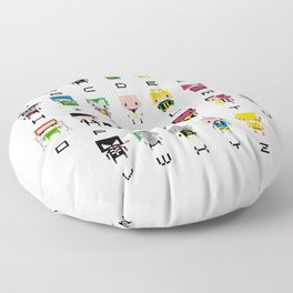 Pixel Supervillain Alphabet 2 Floor Pillow