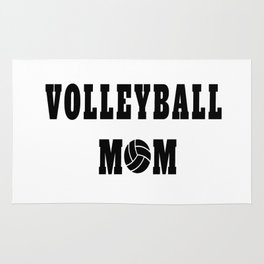 Volleyball Mom Quote Rug