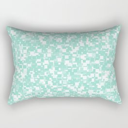 Beach Glass Pixels Rectangular Pillow