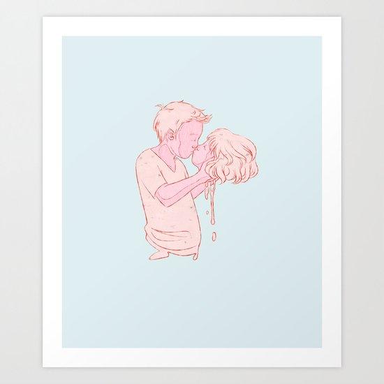 Kissy Face Art Print