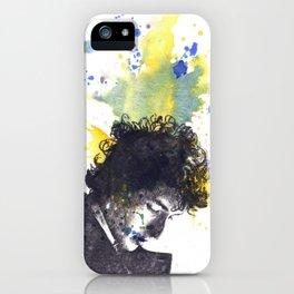 Portrait of Bob Dylan in Color Splash iPhone Case