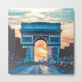 France Photography - Arc De Triomphe In The Sunrise Metal Print