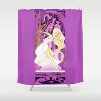 libra Shower Curtains featuring Libra by Sprat