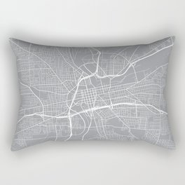 Dayton Map, Ohio USA - Pewter Rectangular Pillow