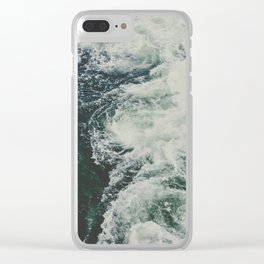 Summer Ocean Waves Clear iPhone Case