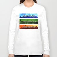 divergent Long Sleeve T-shirts featuring Divergent by All Things M