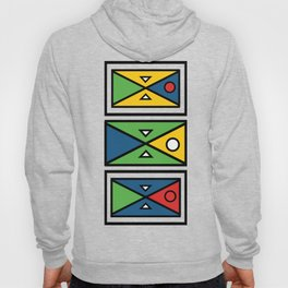 African colourful prints of geometry Hoody