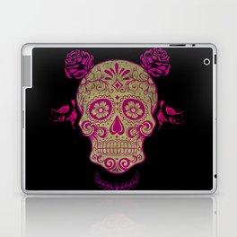 Sugar Skull Green and Pink Laptop & iPad Skin