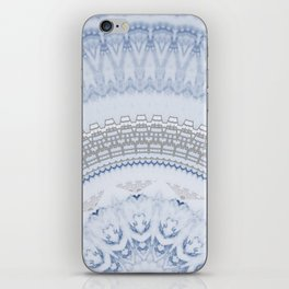 Elegant Blue Silver China Inspired Mandala iPhone Skin