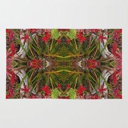 Queen Mardi Gras of the Garden (Mandala-esque #187aa) Rug