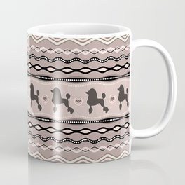 Poodle Love - Decorative Pattern in pastels Coffee Mug