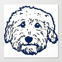 Goldendoodle dog face silhouette - perfect Golden doodle gift idea Canvas Print