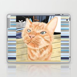 Oliver the Sniffy Red Tabby Cat Laptop & iPad Skin