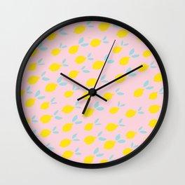 Lemon patern Wall Clock