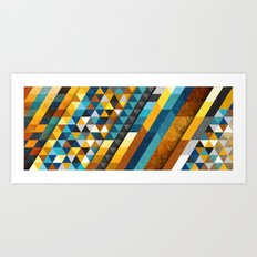 Geometric Sunset Panoramic Art Print