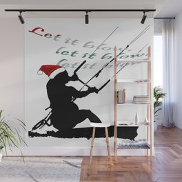 Let It Blow Christmas Holiday Kitesurfing Activity Wall Mural