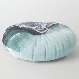 Hubbard Glacier Snowy Mountains Alaska Wilderness Floor Pillow