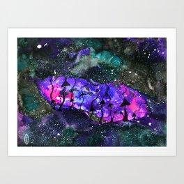 Space Shrooms (Original) Art Print