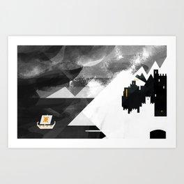 Land of Snow Art Print