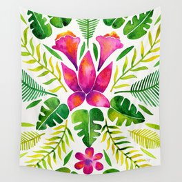 Tropical Symmetry – Pink & Green Wall Tapestry